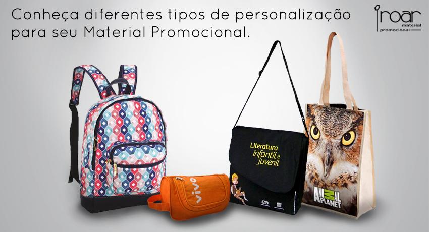 conheca diferentes tipos de personalizacao para seu material promocional Roar mochilas personalizadas